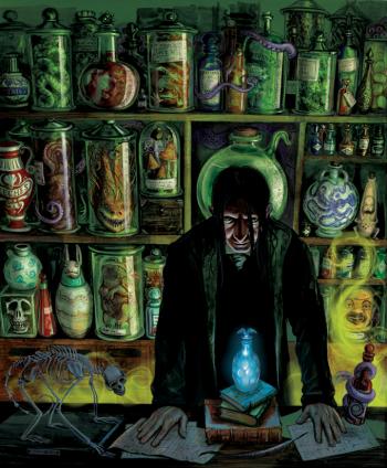 Severus Snape, in his element